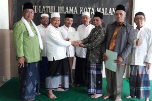 Penyerahan Sertifikat Wakaf ke PCNU Kota Malang