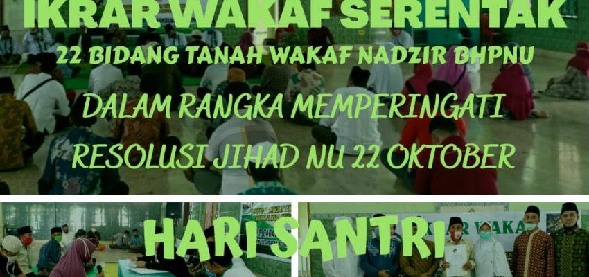 Ikrar Wakaf Serentak BHPNU Tulungagung