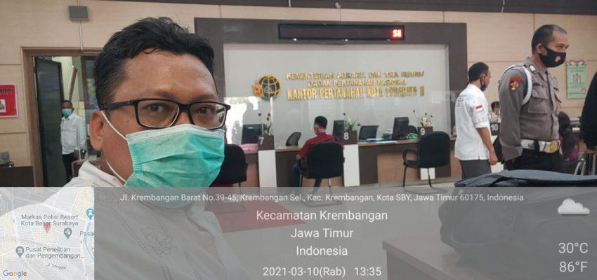 Ini yang dilakukan Pengurus PW LWPNU di BPN Surabaya
