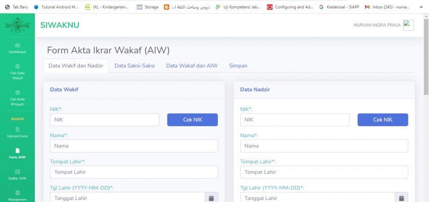 Form AIW di SIWAKNU