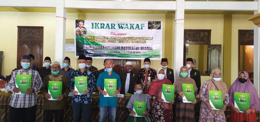 Ikrar Wakaf BHPNU di Ploso Kandang